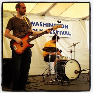 Dan Schwartz (bass) and Andrew Graber (drums) at the Washington Folk Festival.